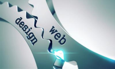 Web Design on the Mechanism of Metal Cogwheels.